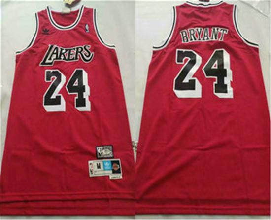 Los Angeles Lakers #24 Kobe Bryant Red