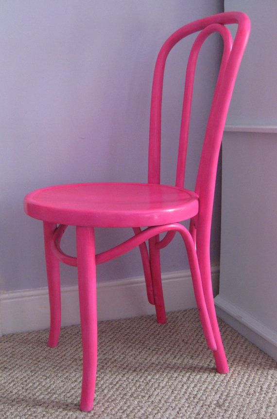 Charming Neon Pink Bentwood Chair   Available Now At Fairyhome On Etsy