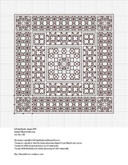 Starburst Blackwork Biscornu | Embroidery | Pinterest | Bordado ...