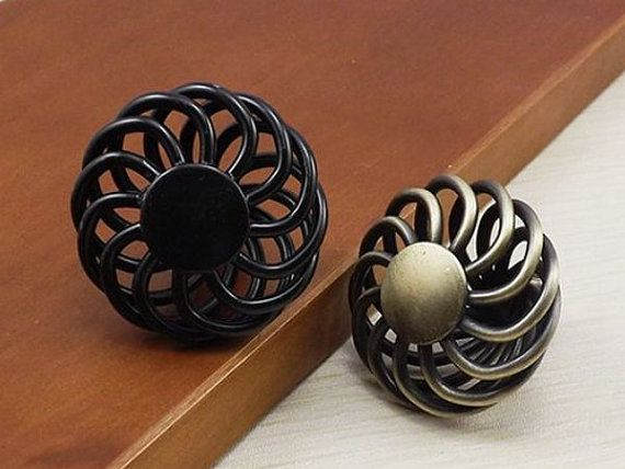 knobs dresser knobs drawer knob pulls knobs handles black retro