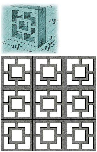 Mid Century Decorative Concrete Screen Block Moderndesign Org
