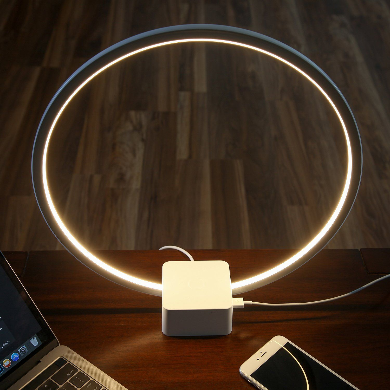 Brightech Circle LED USB Table & Desk Lamp