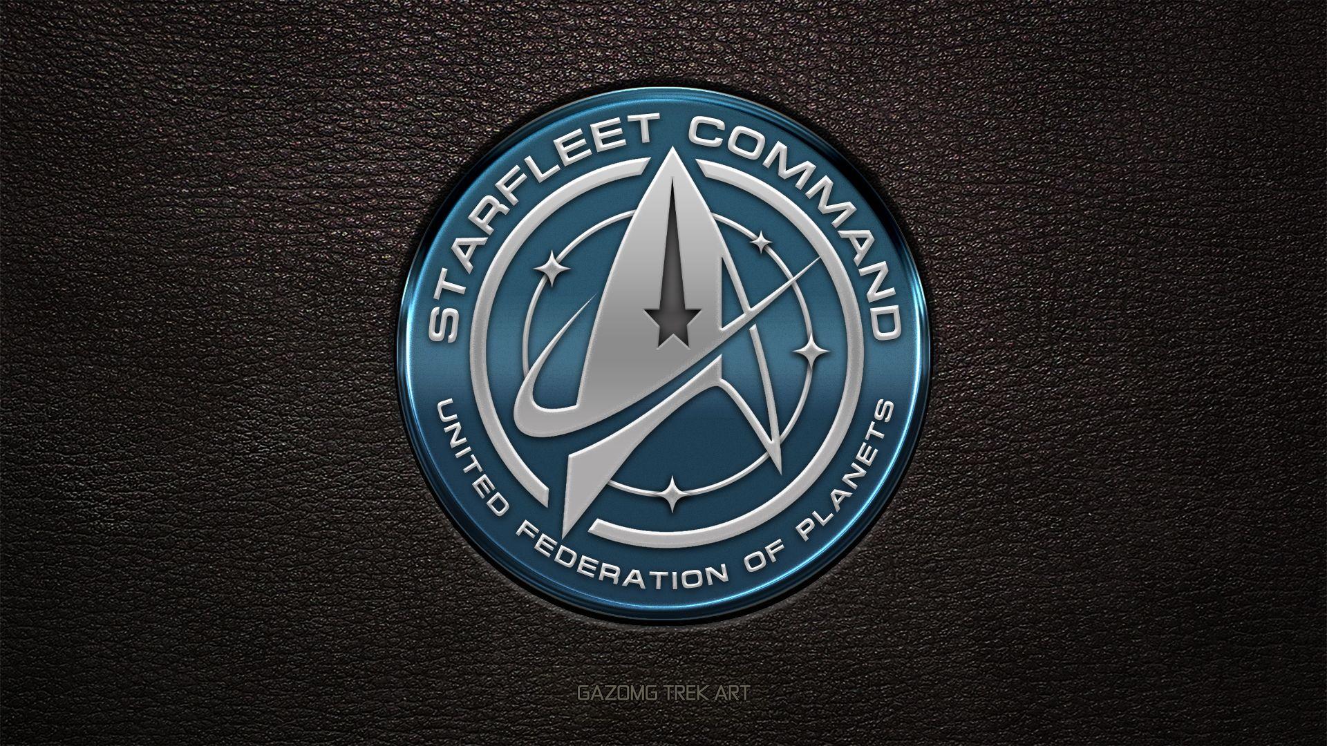New Star Trek Uss Discovery Starfleet Command Logo By Gazomg Star Trek Art Star Trek Wallpaper Star Trek Logo