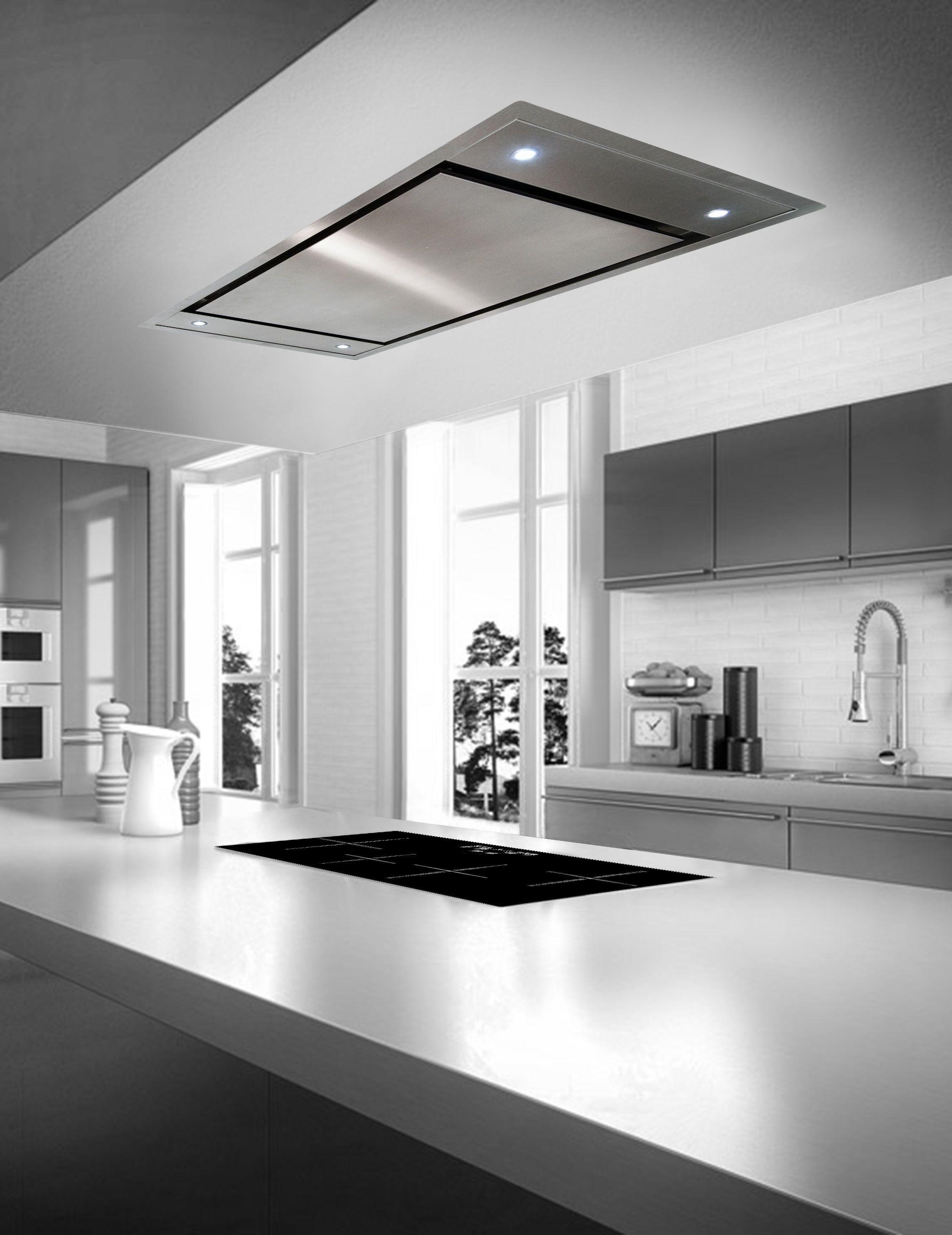 Zefiro Ce120 Flush Mount Island Ceiling Hoods Kitchen