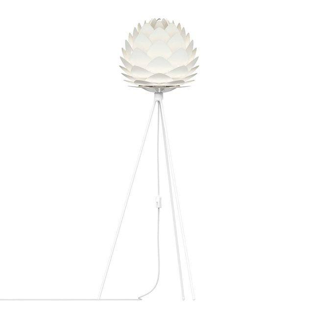 SILVIA Lampadaire Blanc Trépied Blanc H136cm