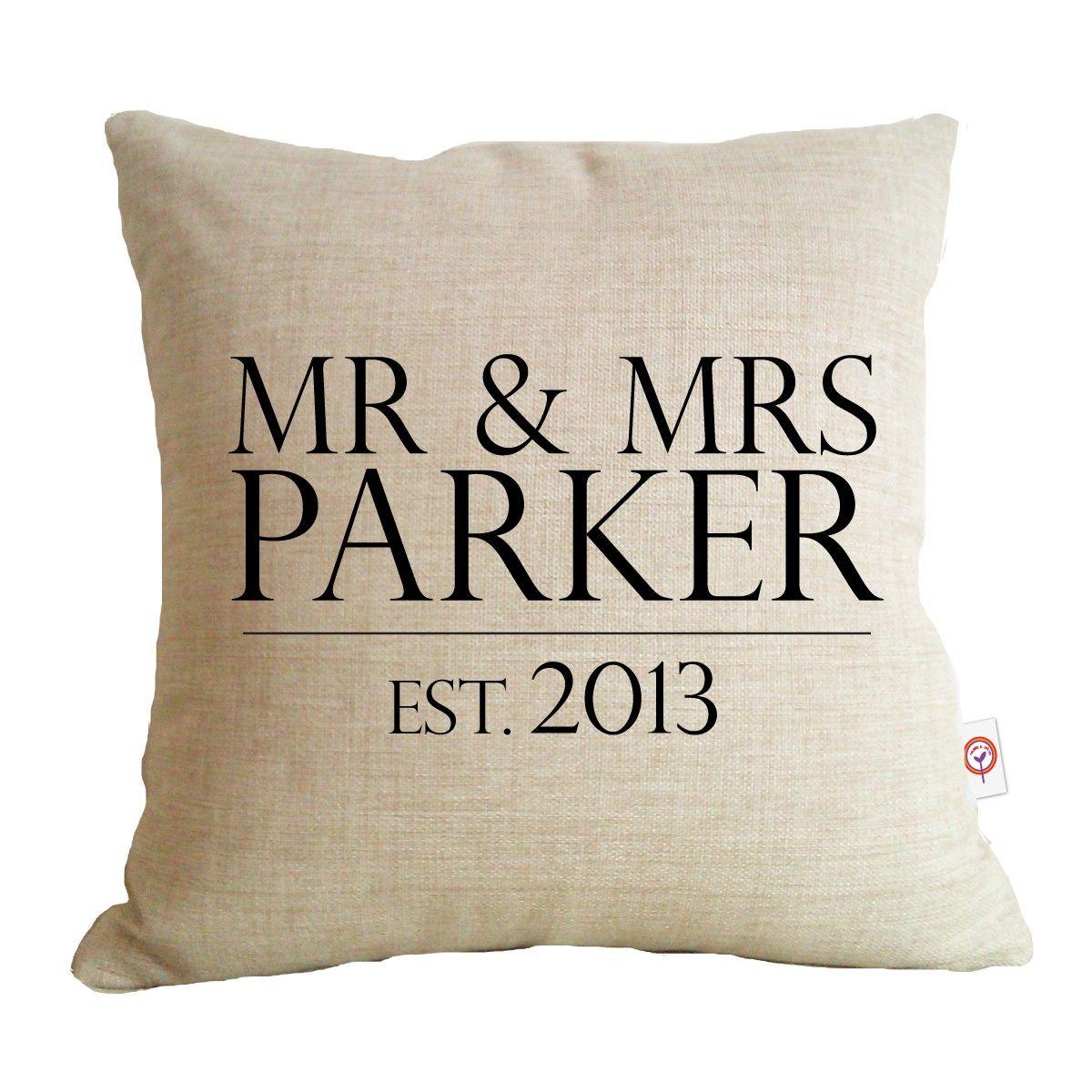 Mr Mrs Surname Cushion 74 Free Shipping Within Australia Www