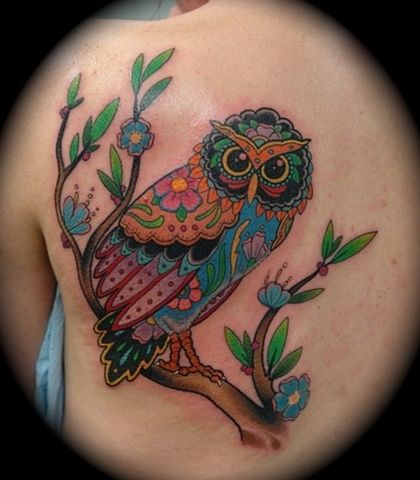 Rainbow Owl Carter Tattoo Crazy Tattoos Art Tattoos True Colors Tattoo Weird Tattoos Rainbow Tattoos