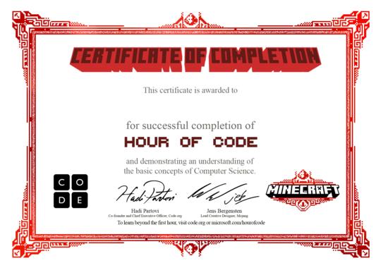 Congratulations  CodeOrg  Doa