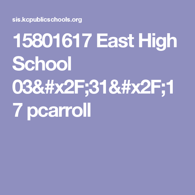 15801617 East High School 03/31/17  pcarroll