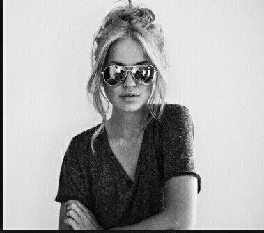 Stylish sunglasses look