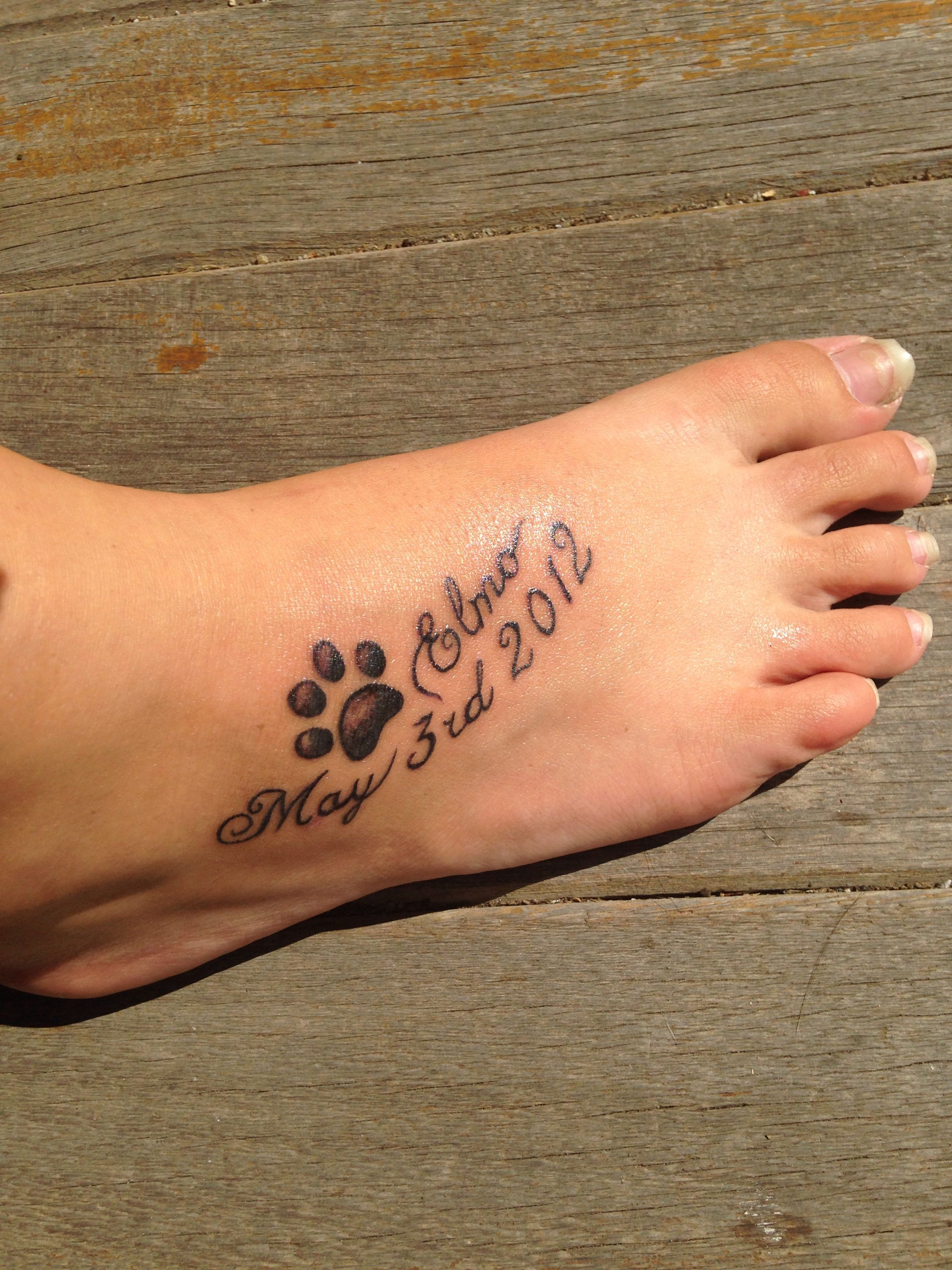 Tattoo For My Dog Who Passed Away A Little Over Two Years Ago Memorial Tattoos Pet Memorial Tattoo Tattoos