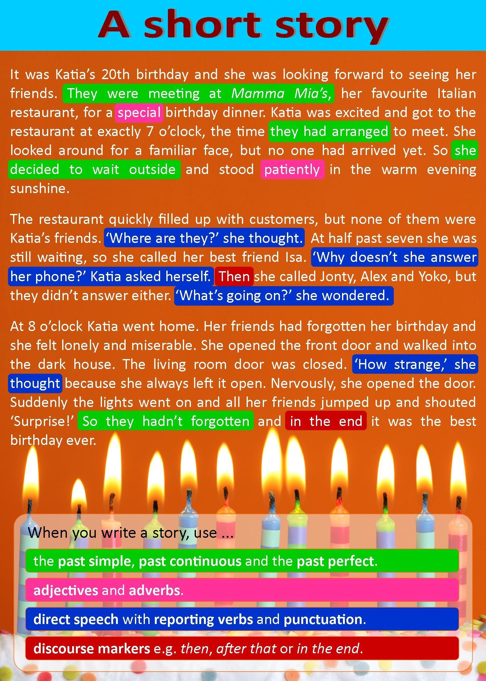 A Short Story Writing Skills English Writing Skills