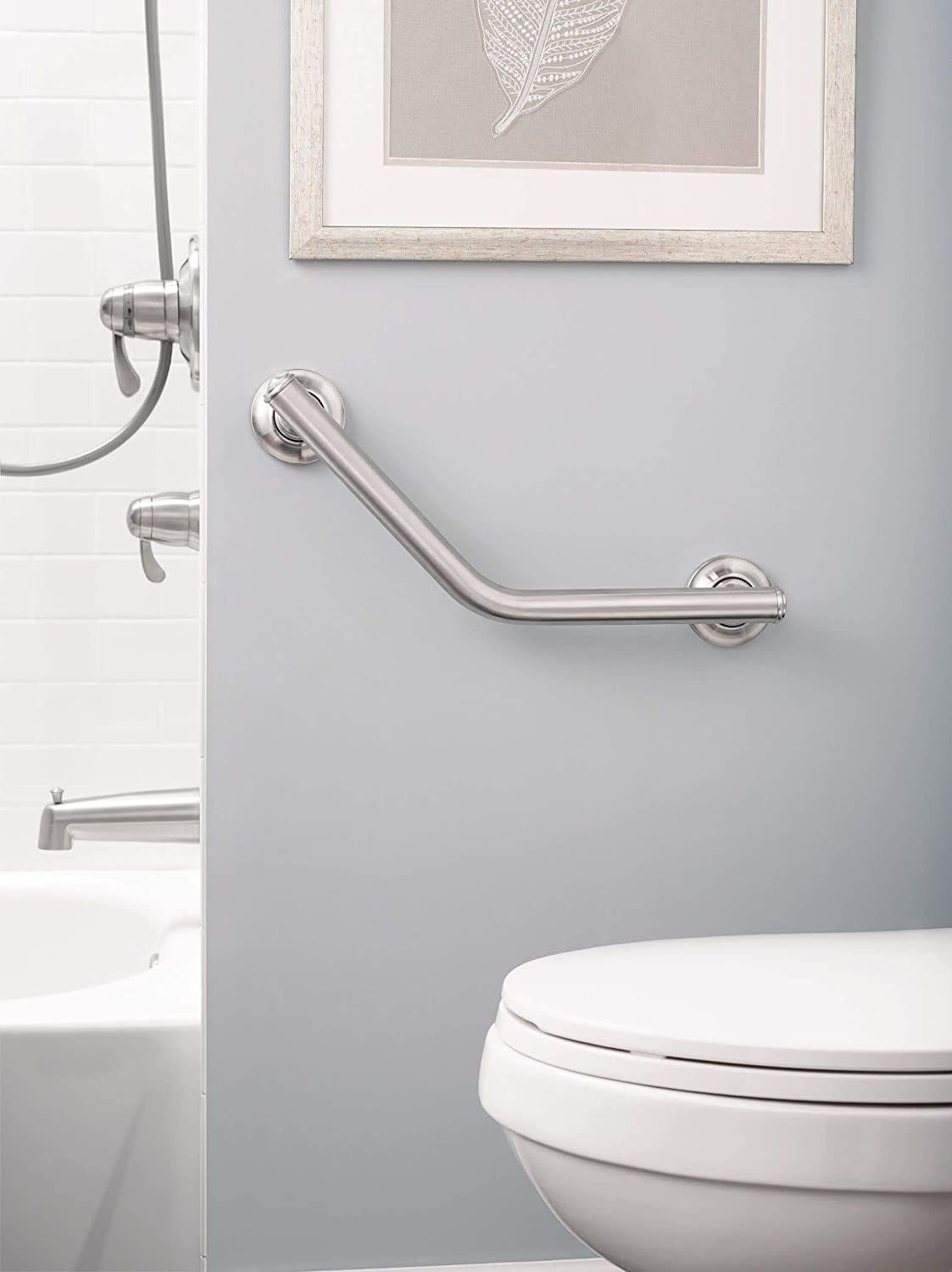 Photo of Home Care 16-Inch Grab Bar, Brushed Nickel