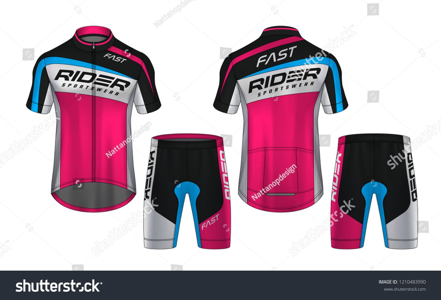 Download Cycling Jerseys Mockup T Shirt Sport Design Template Uniform For Bicycle Apparel