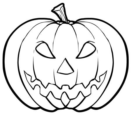 Kid Scary Halloween Pumpkin Coloring Pages 00 Pinterest