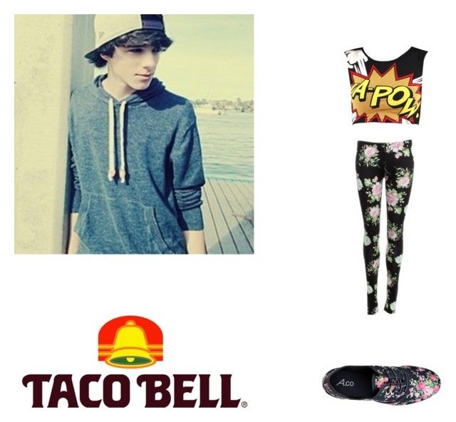 Taco Bell with Brent Rivera. by dirtydiana143 on Polyvore featuring polyvore, fashion, style and Dolce Vita