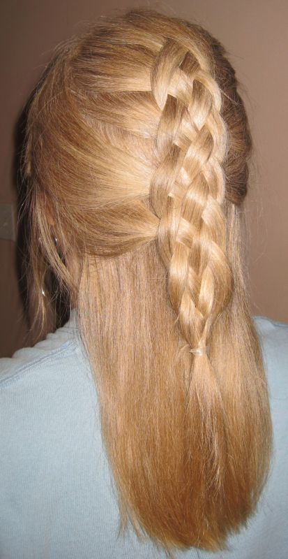 I want to try this!!!!! 5 strand french braid half up!