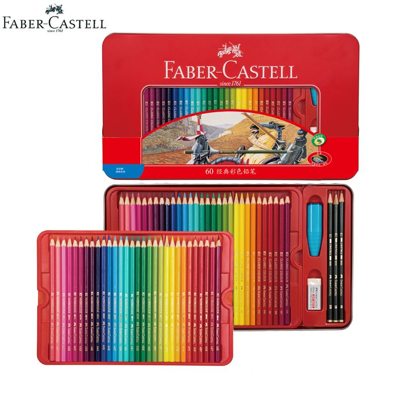 Faber Castell Classic Color Pencils Hexagonal Tin Case 48 60