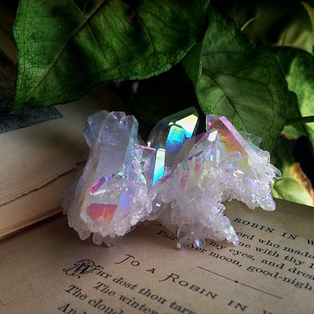 Completely in awe with today's arrival of crystals. Including this gorgeous angel aura... | Use Instagram online! Websta is the Best Instagram Web Viewer!