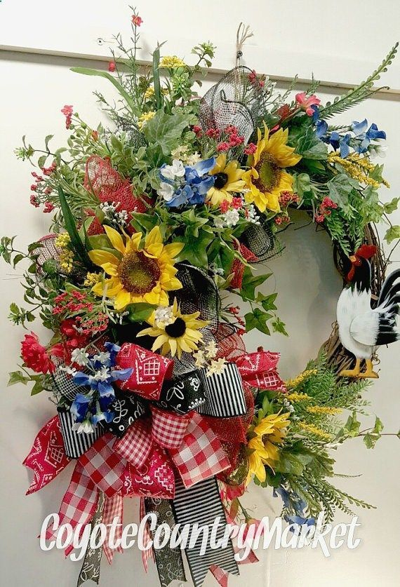 Photo of Rooster Grapevine Wreath Grapevine Mesh by CoyoteCountryMarket