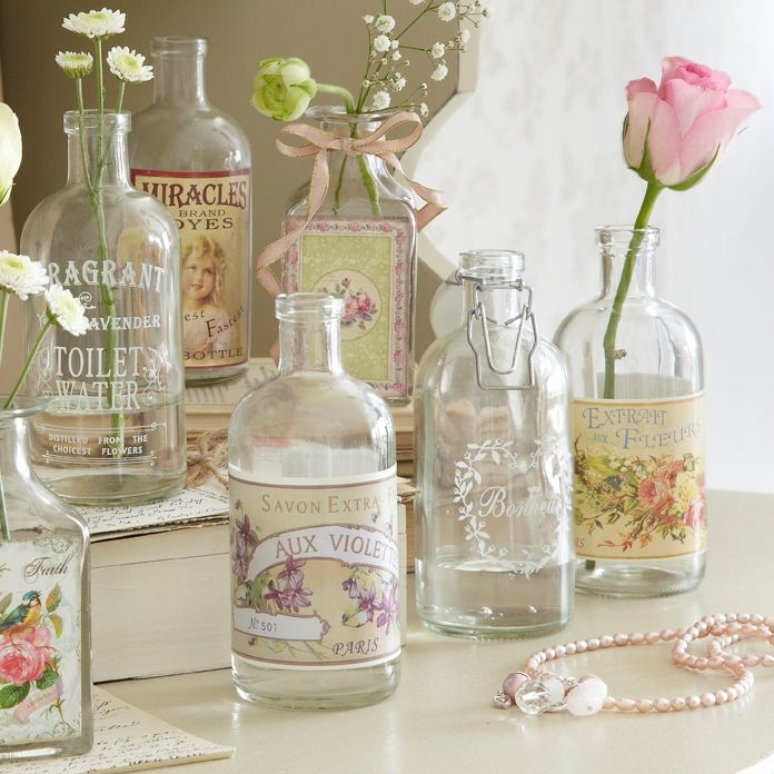 Decor Bottles Magnificent You Can Also Buy Empty Bottles Or Re Use Your Old Bottles Print A Design Ideas