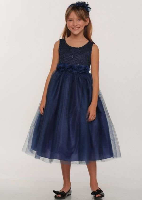 baaa4ca477be los angeles d5156 85f3d childrens navy blue party dresses ...