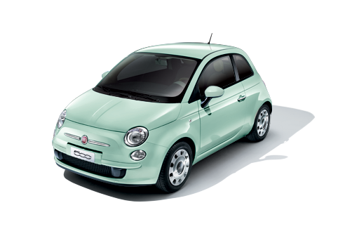 16 000 Fiat 500 New Small Car Australia In Pastel Mint