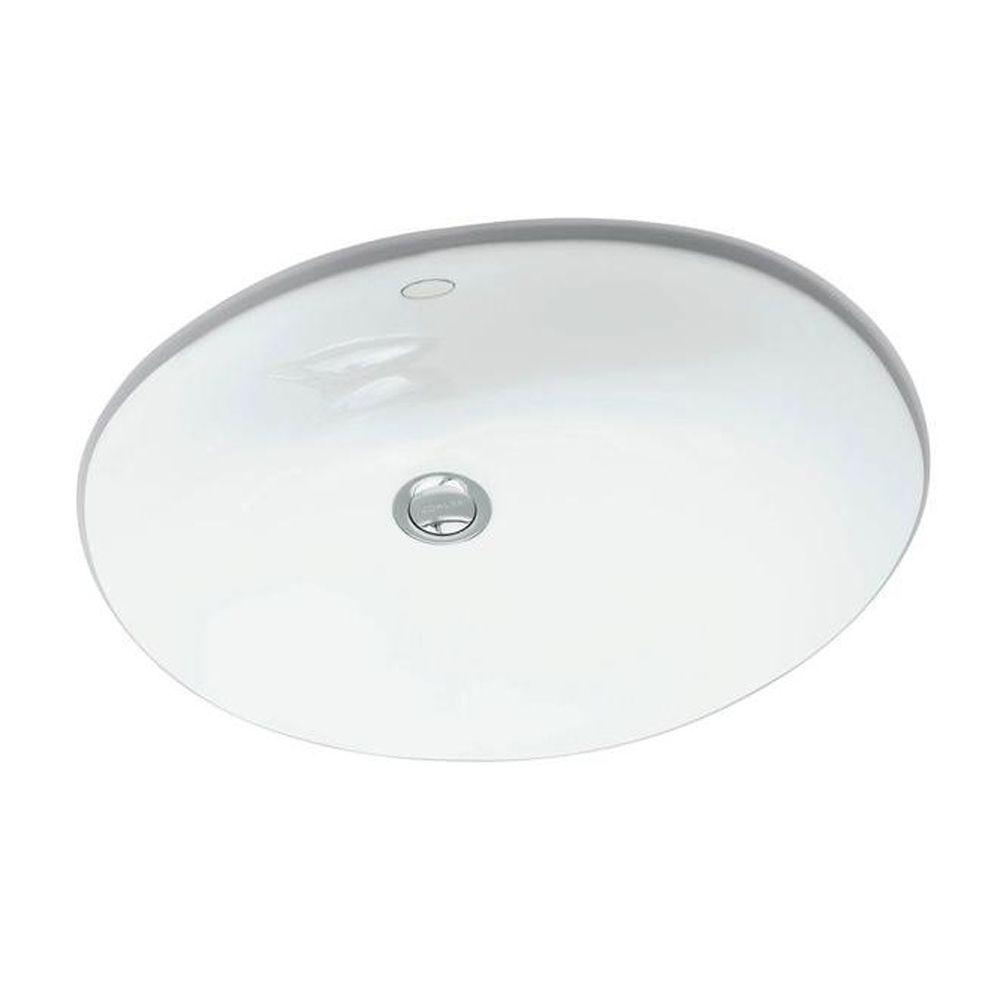 Kohler Caxton Vitreous China Undermount Bathroom Sink In White With Overflow Drain K R2210 0 The Home Depot Undermount Bathroom Sink Kohler Caxton Bathroom Sink