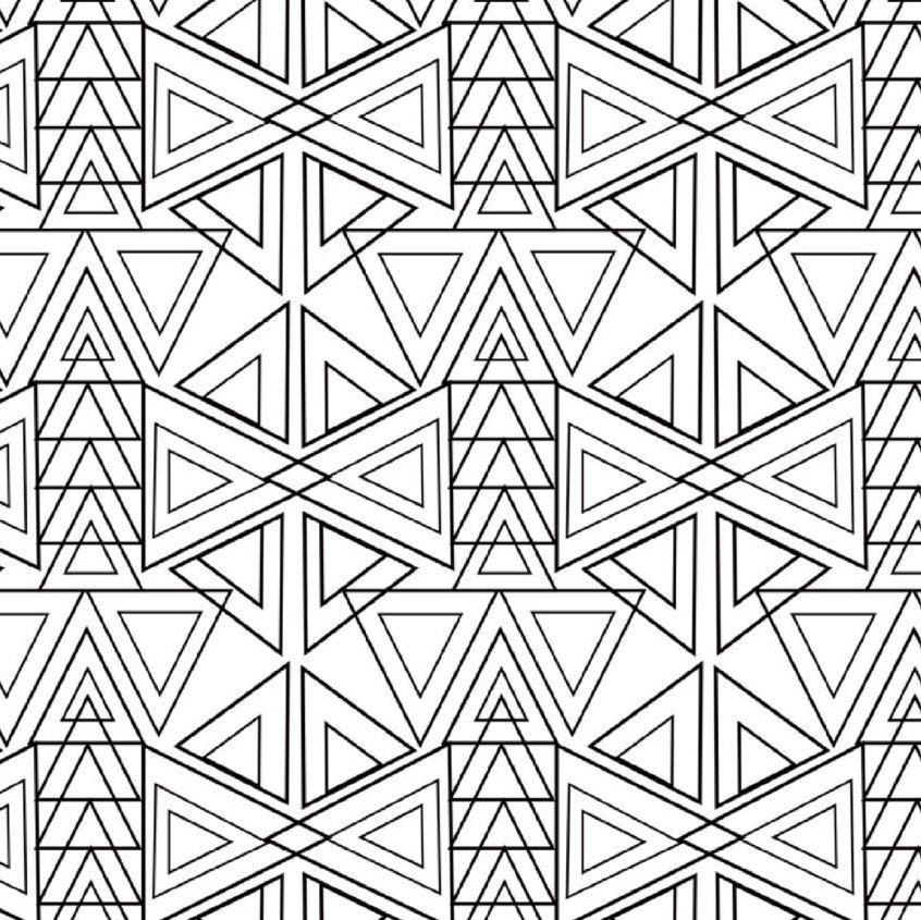 25 Coloring Pages Geometric Patterns By Littleshoptreasures