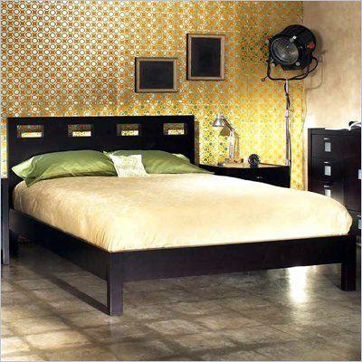 Modus Nevis Riva Modern Low Profile Wood Platform Bed In Espresso Rvp23