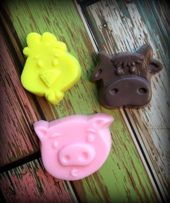 10 ANIMAL SOAP FAVORS soap only  FARM ONES favorsbyangelique, $16.50 PERFECT!!!!!!!!!!!!!!!!!!