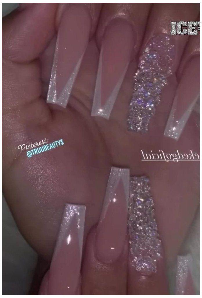birthday nails glitter