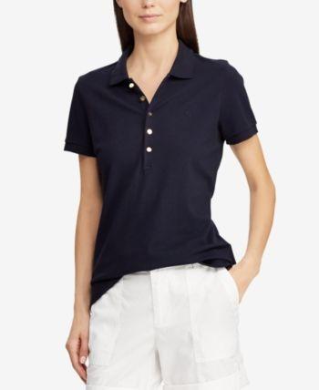 0559de08 Lauren Ralph Lauren Monogram Mesh Polo - White in 2019 | Products ...