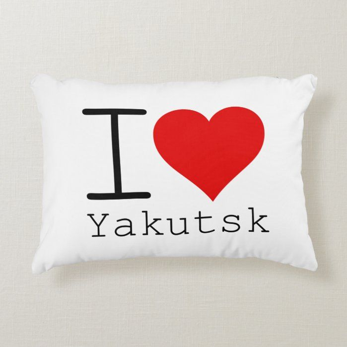 I heart Yakutsk Accent Pillow