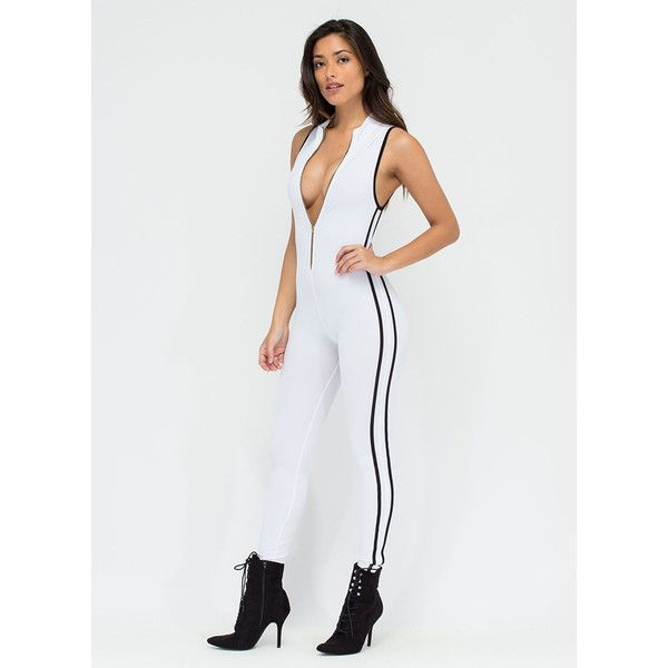 99ac2b29a05 Speed Zone Jumpsuit (£28) ❤ liked on Polyvore featuring jumpsuits ...