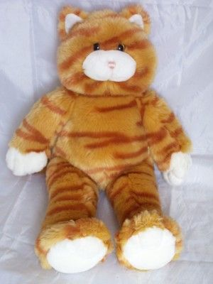 BUILD A BEAR BABW Orange Tabby Kitty Cat