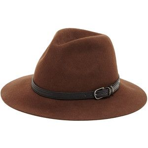 Sole Society wool outback hat with buckle band