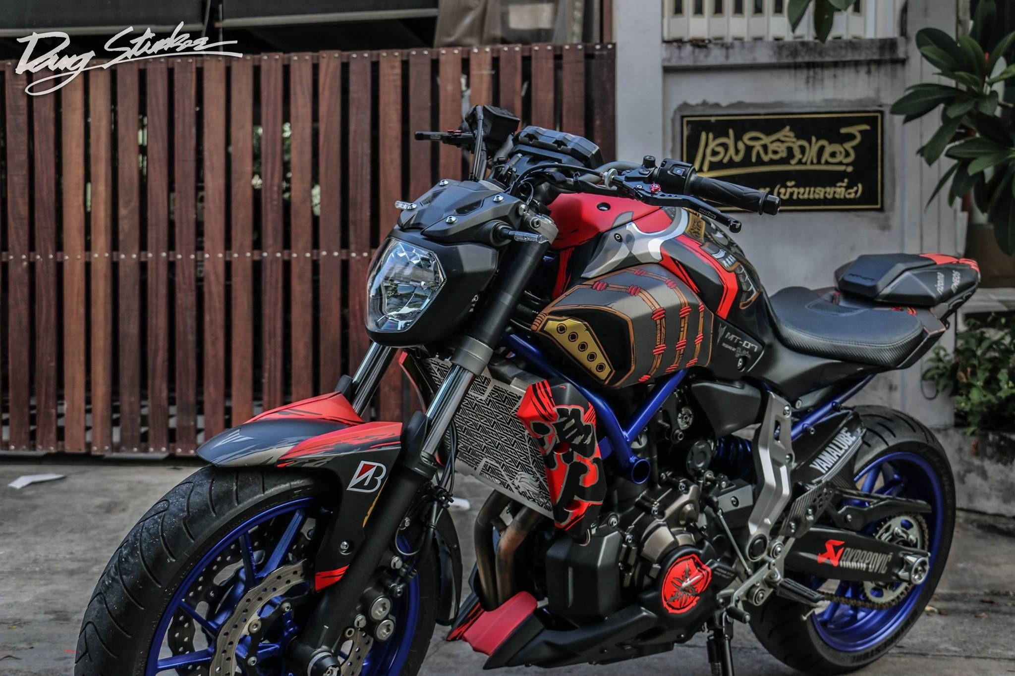 Yamaha mt07 custom by dang sticker