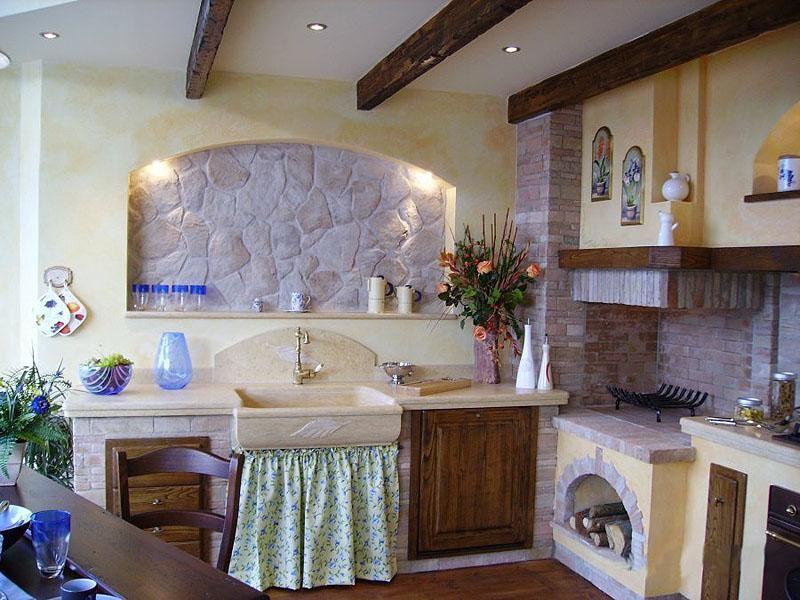 Cucine in muratura camini barbecue fontanili pozzi for Occasioni arredamento roma