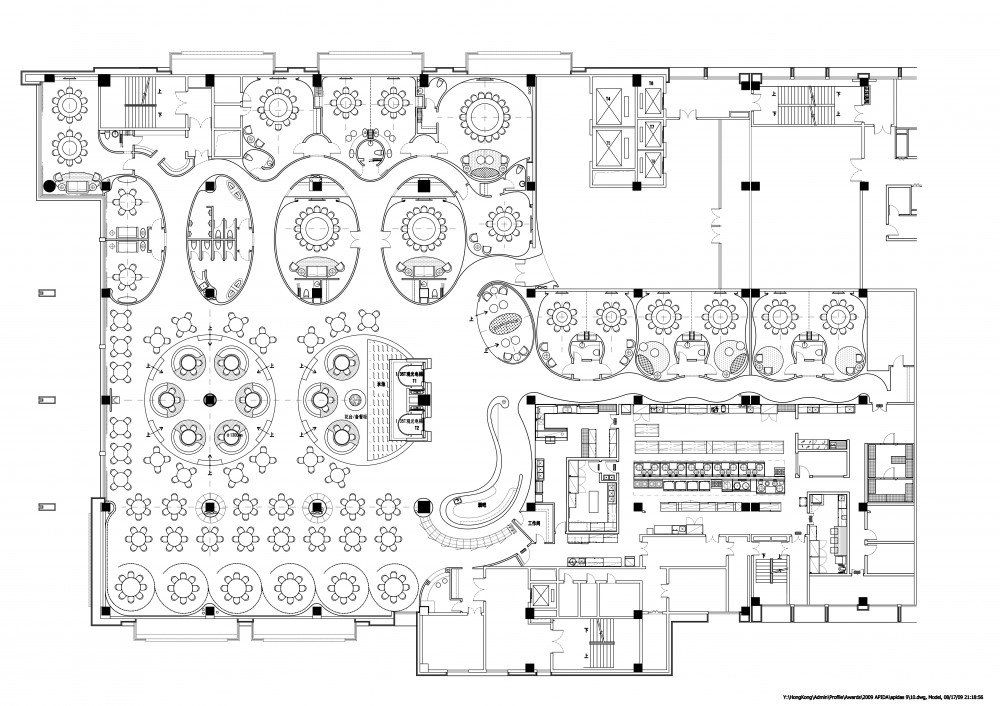 Image Result For Gallery Of Pandora Media Inc New York Office Aba Studio 17 Restaurant Plan Restaurant Layout Cafe Floor Plan