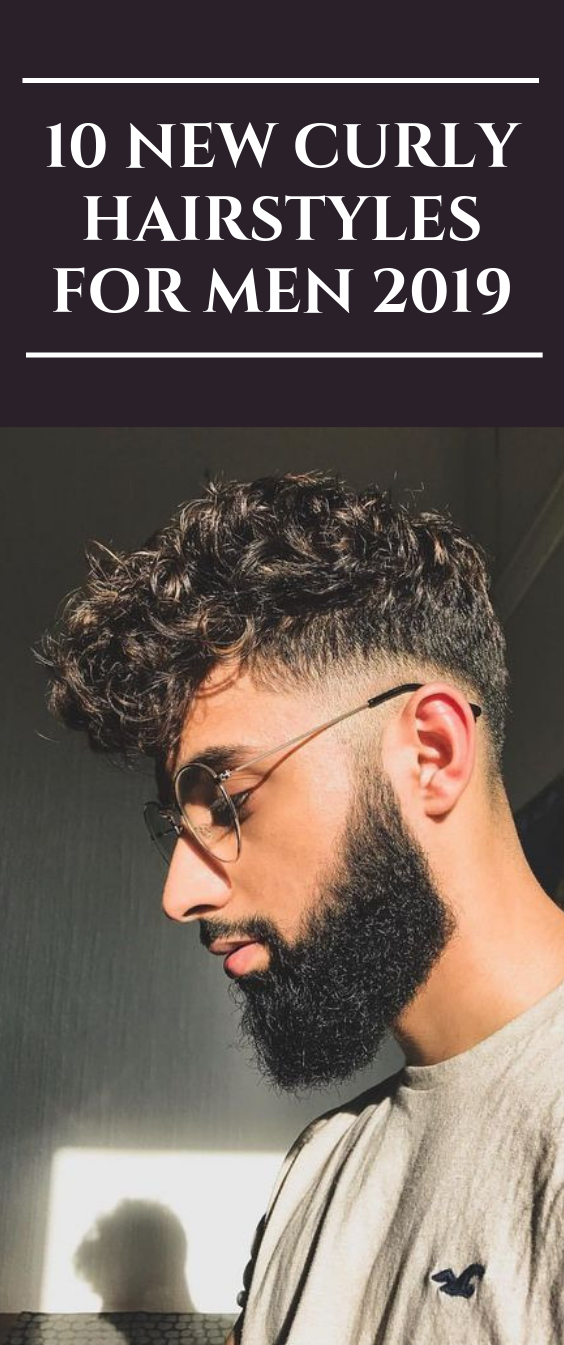 10 New Curly Hairstyles For Men 2019 menhair hairstyle