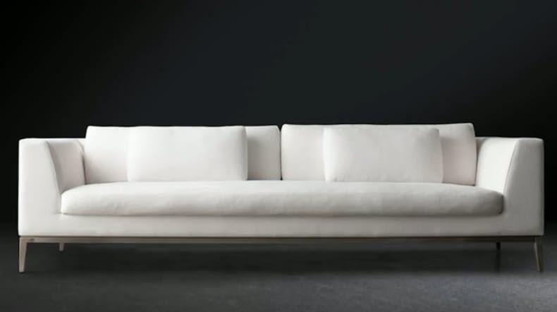 Long Modern White Sofa