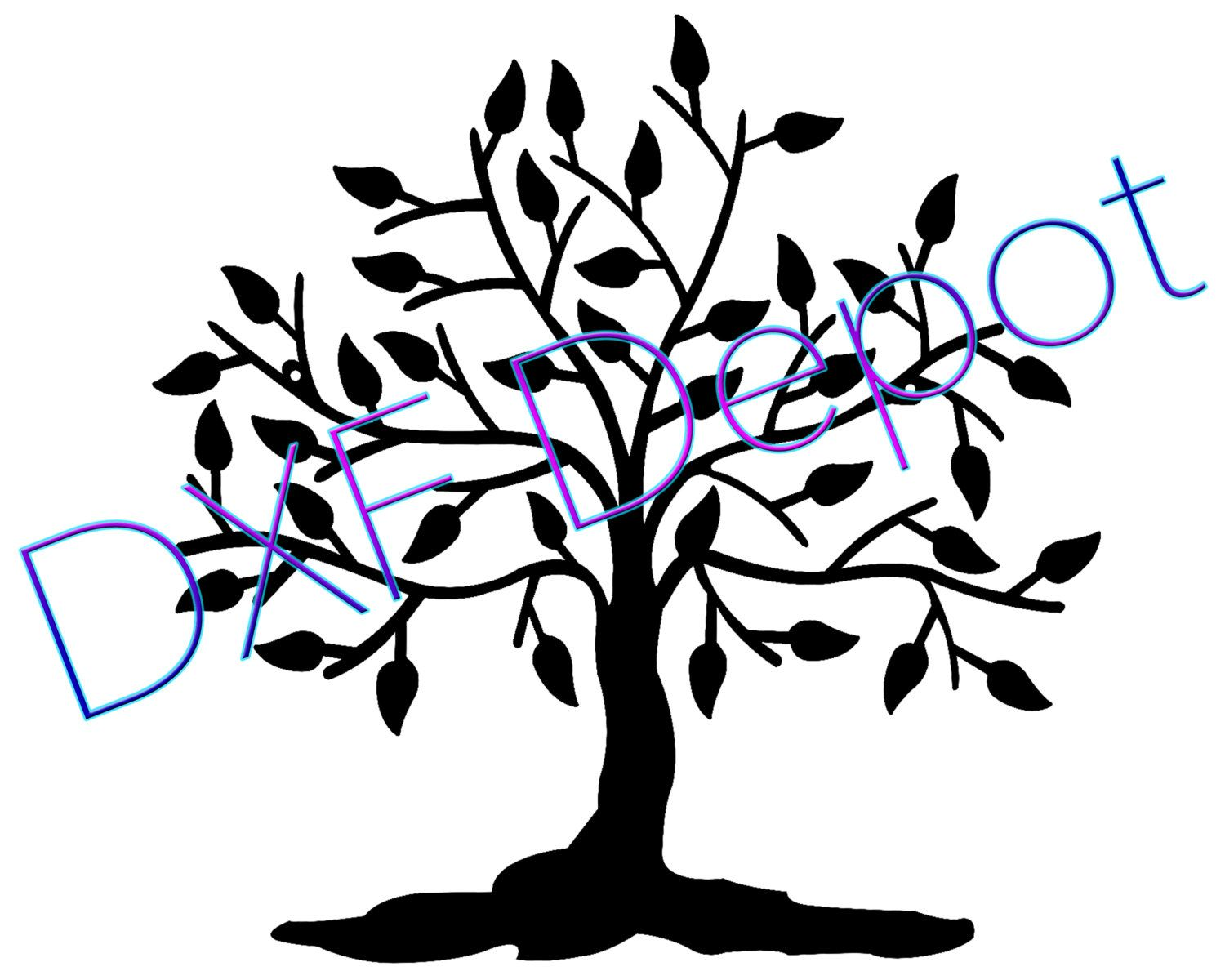 tree of life dxf format cnc cut file vector art clip art rh pinterest com tree of life vector design tree of life vector art