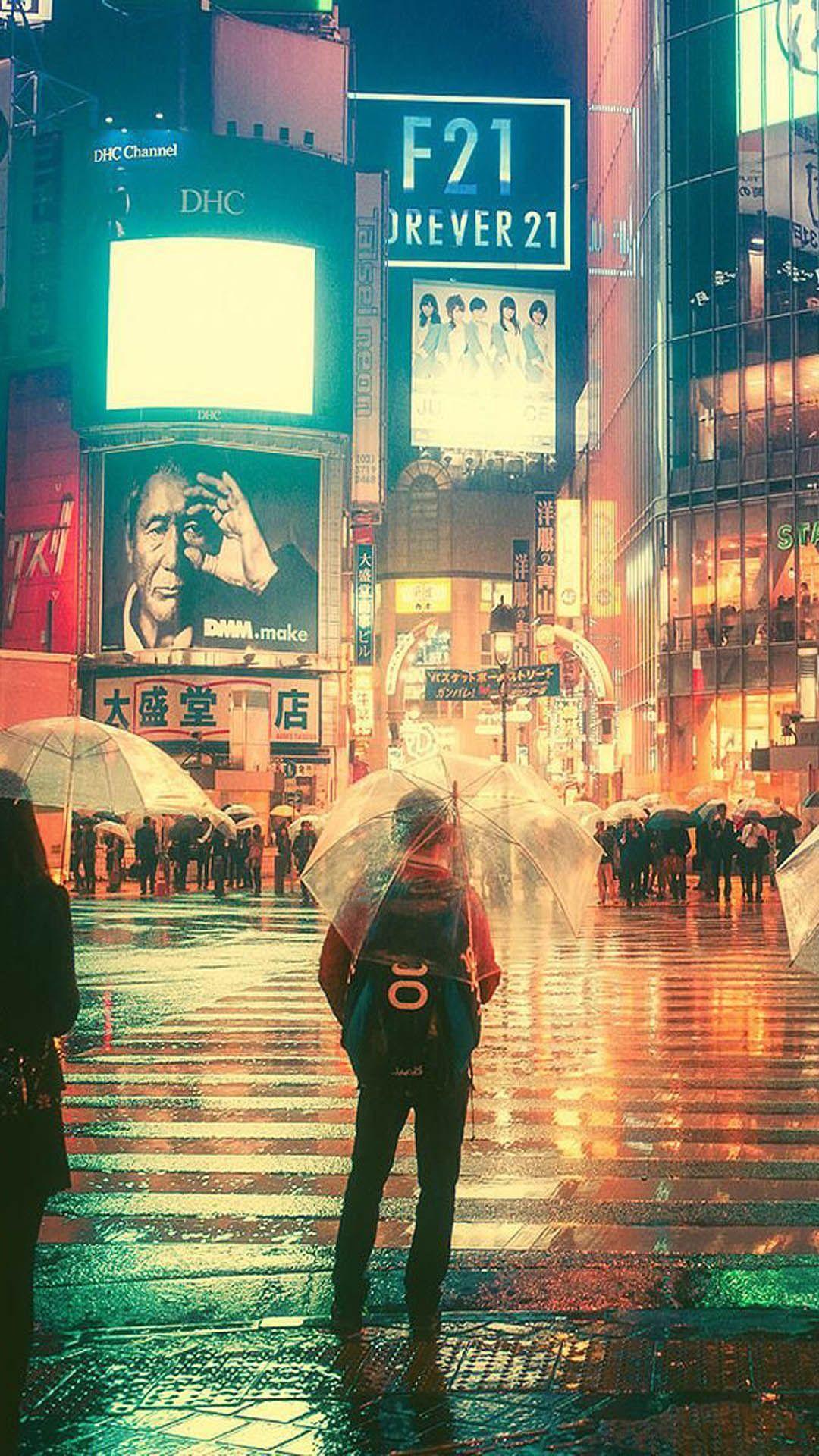 Rainy Night In Tokyo City Tokyo City Tokyo Night City Rain