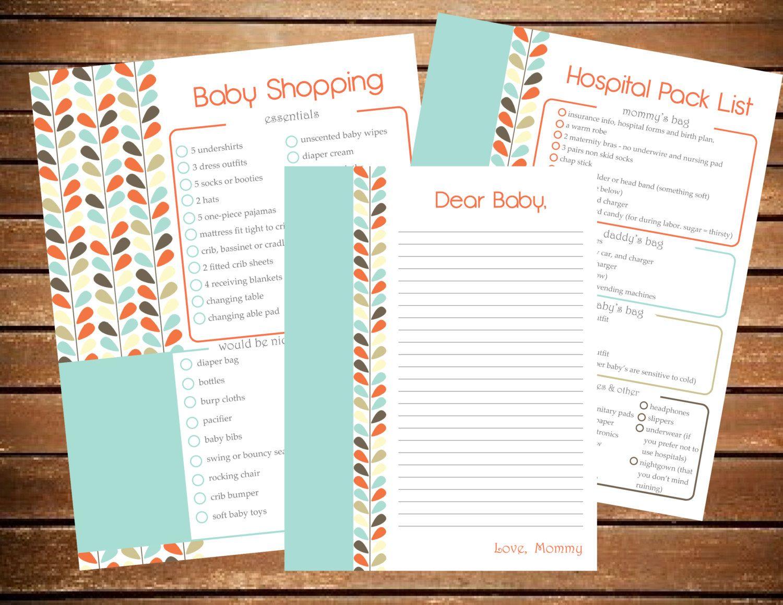 Pregnancy Planner Maternity Pringable Pregnancy Journal Baby Shower Pregnancy Baby Planner