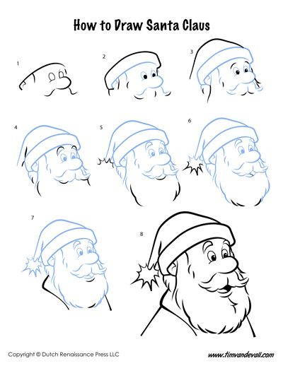 How To Draw Santa Claus Christmas Printables In 2019 How To Draw