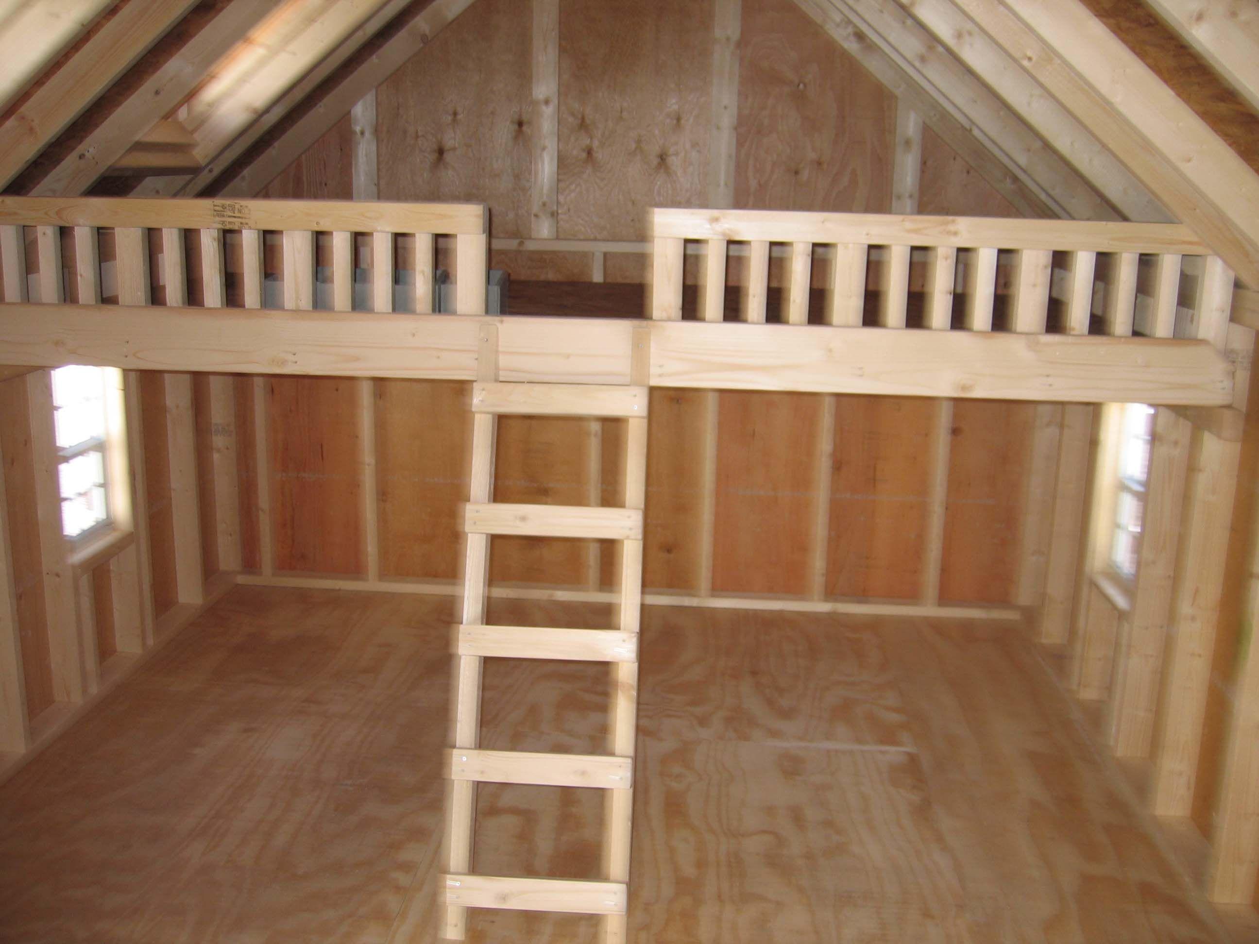 Playhouse Plans With Loft Kids