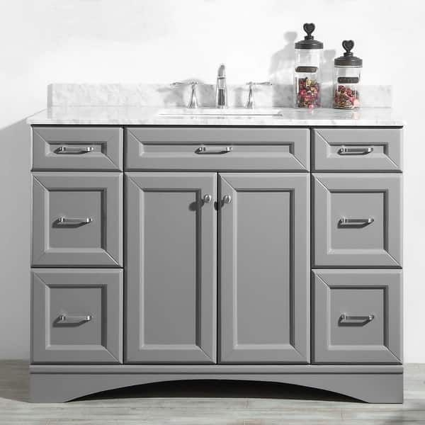 48 inch mirror. Naples Grey 48-inch Vanity Without Mirror 48 Inch