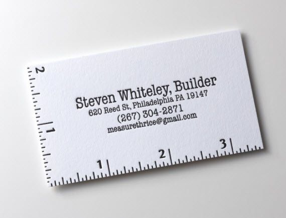 Minimalist business card, with a ruler! | Calling Card | Pinterest ...