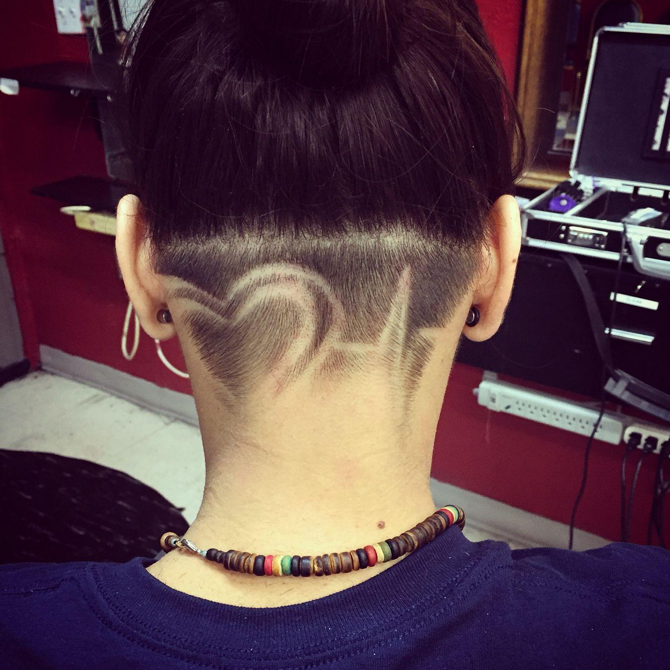 valentine undercut heart   hair   pinterest   undercut, undercut